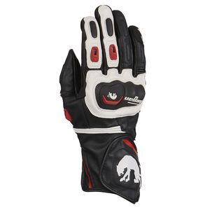 Furygan Higgins Red Black White Motorcycle Gloves