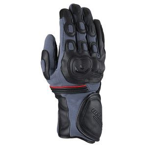 Furygan Dirt Road Black Grey Red Motorcycle Gloves