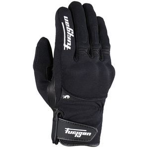 Furygan Jet All Season D3O Black White Motorcycle Gloves