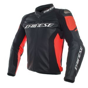 Dainese Racing 3 Black Black Fluo Red