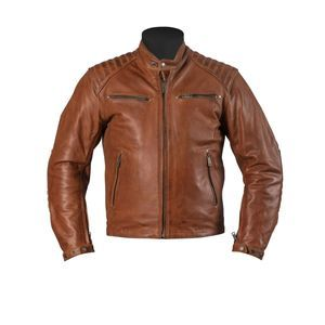 Helstons Rocket Leather Buffalo Tan Motorcycle Jacket