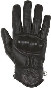 Helstons Snow Hiver Leather Black Motorcycle Gloves