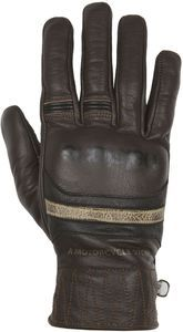 Helstons Bora Hiver Leather Brown Beige Motorcycle Gloves