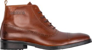 Helstons Heroes Leather Aniline Brown Wax Motorcycle Shoes