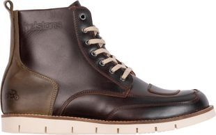 Helstons Liberty Leather Aniline Ciré Brown Wax Motorcycle Shoes