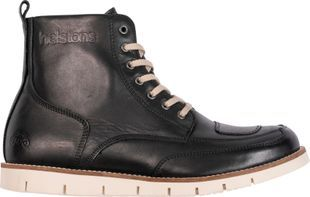 Helstons Liberty Leather Aniline Ciré Black Wax Motorcycle Shoes