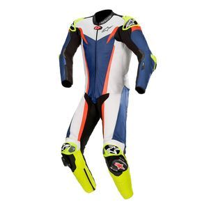 Alpinestars GP Tech V3 Tech-Air Compatible Blue White Red Fluo 1PC Leather
