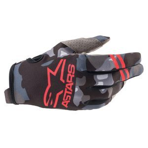 Alpinestars Youth Radar Gray Camo Red Fluo