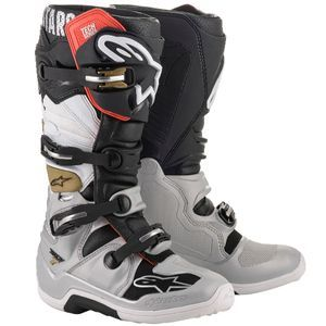 Alpinestars Tech 7 Black Silver White Gold