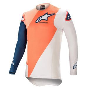 Alpinestars Supertech Blaze Orange Dark Blue