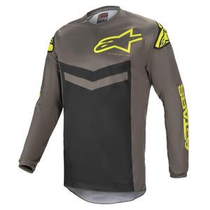 Alpinestars Fluid Speed Dark Gray Yellow Fluo