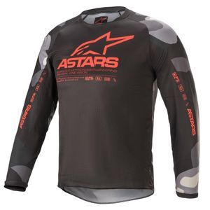 Alpinestars Youth Racer Tactical Gray Camo Red Fluo