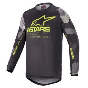 Alpinestars Youth Racer Tactical Gray Camo Yellow Fluo