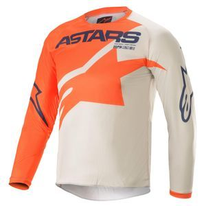 Alpinestars Youth Racer Braap Orange Light Gray Dark Blue