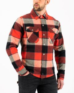 Rokker Boulder Rider Shirt Red Black White