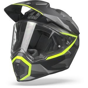 AGV AX9 Siberia Matt Black Yellow Fluo