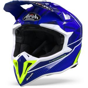 Airoh Wraap Mood Casco Motocross Azul