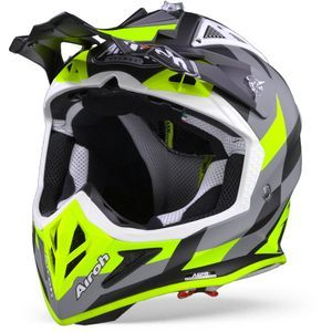 Airoh Aviator ACE Trick Casco Motocross Amarillo Mate