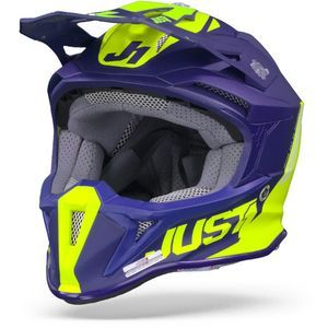 JUST1 J18 MIPS Pulsar Yellow Fluo Blue Motocross Helmet