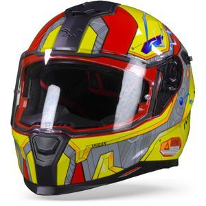 Nexx Sx.100 Gigabot Red Yellow Full Face Helmet