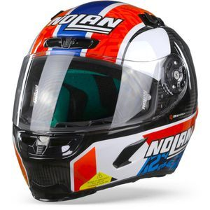 Nolan X-803 Ultra Carbon 55 Rins Carbon Black White Red Blue