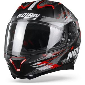 Nolan N87 Carnival 84 Flat Black Red Anthracite