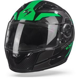 Scorpion EXO-490 Supernova Black Green Full Face Helmet