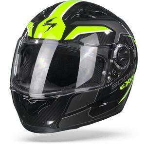 Scorpion EXO-490 Supernova Black Neon Yellow Full Face Helmet