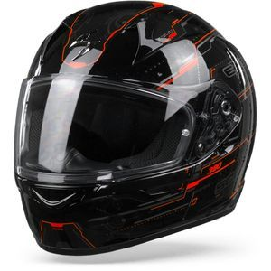 Scorpion EXO-390 Beat Black Neon Red