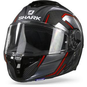 Shark Spartan GT Carbon Kromium DUR Carbon Chrome Red
