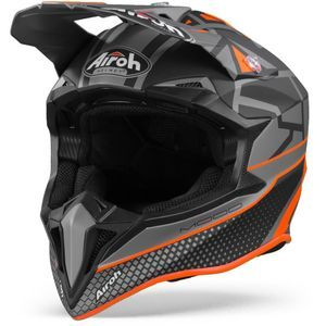 Airoh Wraap Mood Flat Casco Motocross Naranja