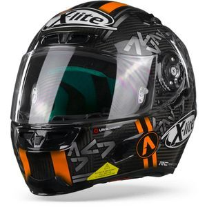 X-Lite X-803 Ultra Carbon 052 Canet Carbon Schwarz Anthrazit Orange