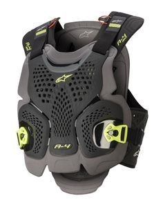 Alpinestars A-4 Max Black Anthracite Yellow Fluo