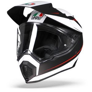 AGV AX9 Pacific Road Matt Black White Red