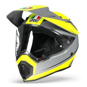 AGV AX9 Pacific Road Matt Grey Yellow Fluo Black