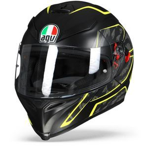 AGV K-5 S Tornado Black Yellow Fluo