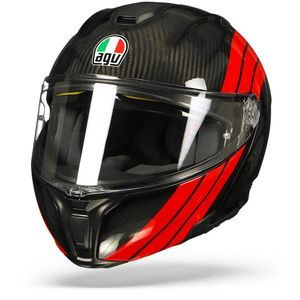 AGV Sportmodular Stripes Carbon Rot