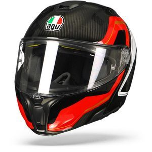 AGV Sportmodular Sharp Carbone Rouge Blanc
