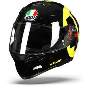 AGV K-3 SV Bollo 46 Black Yellow
