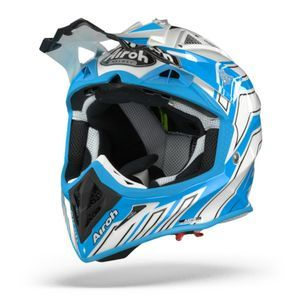 Airoh Aviator ACE Art Casque Motocross Azure Mat