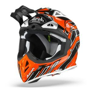 Airoh Aviator ACE Art Casque Motocross Orange Brillant