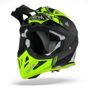 Airoh Aviator ACE Kybon Casco Motocross Amarillo Mate