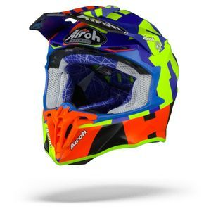 Airoh Twist 2.0 Frame Casco Motocross Azul Mate