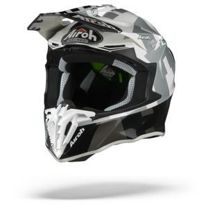 Airoh Twist 2.0 Frame Casco Motocross Gris Brillante