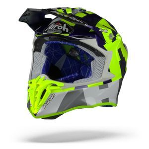 Airoh Twist 2.0 Frame Casco Motocross Amarillo Azul Brillante