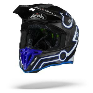 Airoh Twist 2.0 Neon Casco Motocross Azul Mate