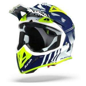 Airoh Aviator ACE Nemesi Casque Motocross Bleu Brillant