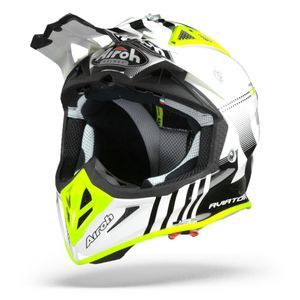 Airoh Aviator ACE Nemesi Casque Motocross Blanc Brillant