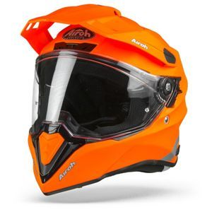 Airoh Commander Color Casque Aventure Orange Fluo Mat