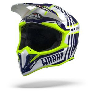Airoh Wraap Broken Casco Integral Azul Brillante